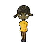 Cartoon grumpy girl Royalty Free Stock Photos