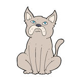 Cartoon grumpy little dog Stock Images