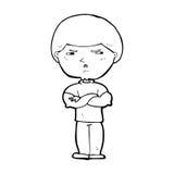 Cartoon grumpy man Stock Images