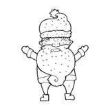 Cartoon grumpy santa Royalty Free Stock Photos