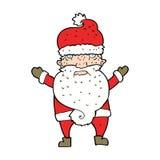 Cartoon grumpy santa Royalty Free Stock Image