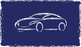 Cartoon grunge silhouette of a car Royalty Free Stock Images