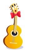 Cartoon guitar. Stock Photography