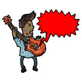 Cartoon guitar player Royalty Free Stock Photo
