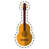 Cartoon guitar traditional acoustic music Stock Image