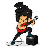 Cartoon Guitarist Royalty Free Stock Photo