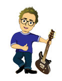 Cartoon guitarist Royalty Free Stock Image