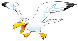 Cartoon gull Stock Photo