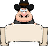 Cartoon Gunfighter Banner Stock Photos