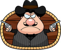 Cartoon Gunfighter Royalty Free Stock Photography