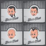 Cartoon guy set Stock Photo