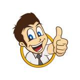 Cartoon guy thumbs up Stock Image