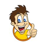 Cartoon guy thumbs up Royalty Free Stock Image