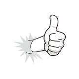 Cartoon guy thumbs up Stock Image