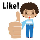 Cartoon guy thumbs up Royalty Free Stock Images