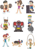 Cartoon Gym icon. Vector drawing Royalty Free Stock Image