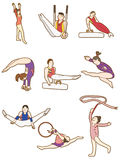 Cartoon Gymnast icon Stock Image