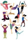 Cartoon gymnastic icon. Vector drawing Stock Photography