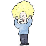 Cartoon hair raising fright Stock Images