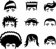 Cartoon hair styles Stock Image