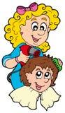 Cartoon hair stylist Stock Image