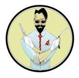 Cartoon hairstylist illustration Stock Images
