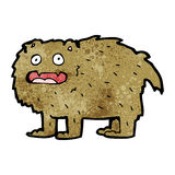 Cartoon hairy beast Stock Photography