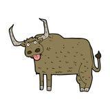 Cartoon hairy cow Royalty Free Stock Photography
