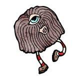 Cartoon hairy monster Royalty Free Stock Photo