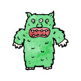 Cartoon hairy monster Royalty Free Stock Images