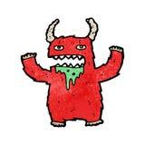 Cartoon hairy monster Stock Photos