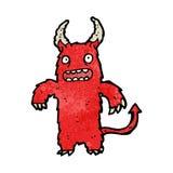 Cartoon hairy monster Royalty Free Stock Image