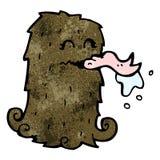 Cartoon hairy monster Royalty Free Stock Photos