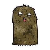 Cartoon hairy monster Stock Image