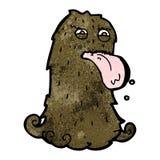 Cartoon hairy monster Stock Photo