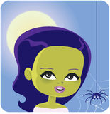 Girl Monster Halloween Costume Stock Images