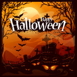 Cartoon halloween background Stock Images