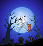 Cartoon Halloween background Royalty Free Stock Images