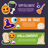 Cartoon halloween banners set Royalty Free Stock Photography