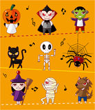 Cartoon Halloween card Royalty Free Stock Photo