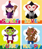 Cartoon Halloween card Stock Image