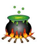 Cartoon Halloween Cauldron Stock Image