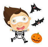 Cartoon halloween child Royalty Free Stock Images