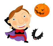 Cartoon halloween child Stock Images