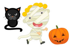 Cartoon halloween child Stock Photography