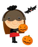 Cartoon halloween child Stock Photos