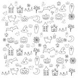 Cartoon halloween doodle element Royalty Free Stock Image
