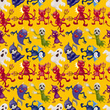 Cartoon halloween ghost seamless pattern Stock Images