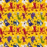 Cartoon halloween ghost seamless pattern Stock Images