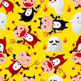 Cartoon halloween ghost seamless pattern Royalty Free Stock Photography